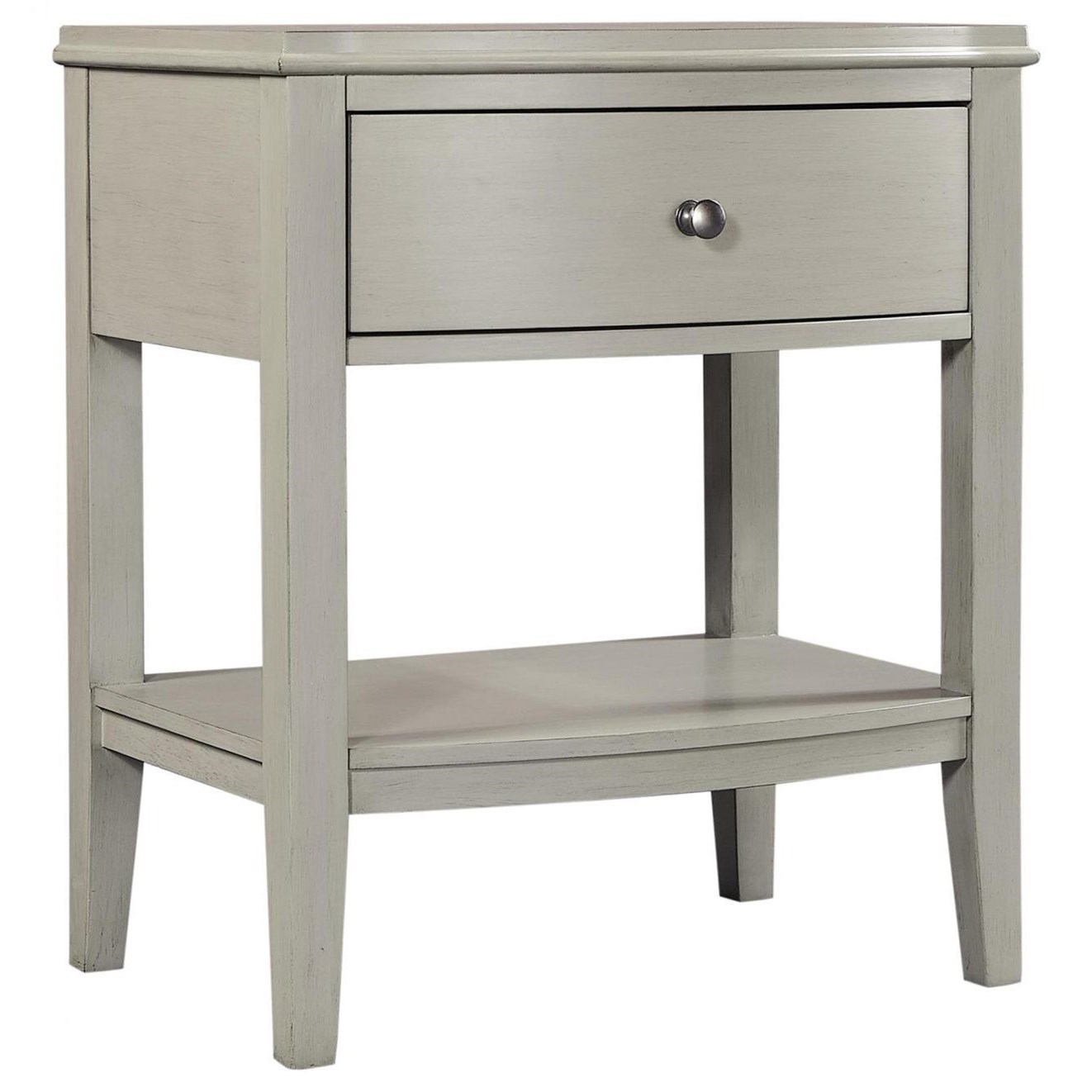 Charlotte  1 Drawer Nightstand by Aspenhome at Mueller Furniture