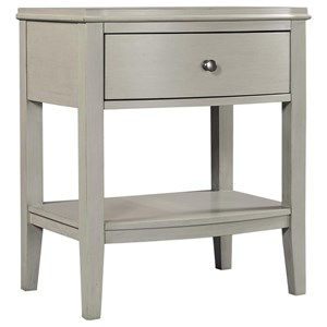 Transitional 1 Drawer Nightstand with Felt Lined Drawer