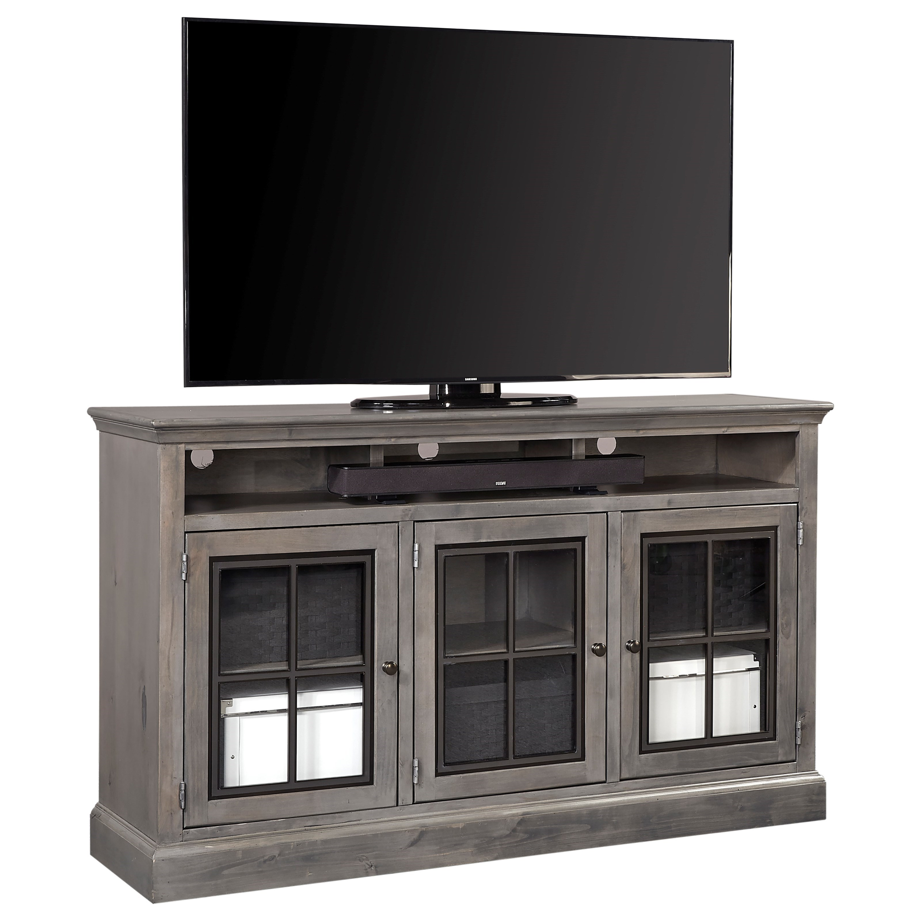 """Churchill 66"""" Highboy Console by Aspenhome at Walker's Furniture"""