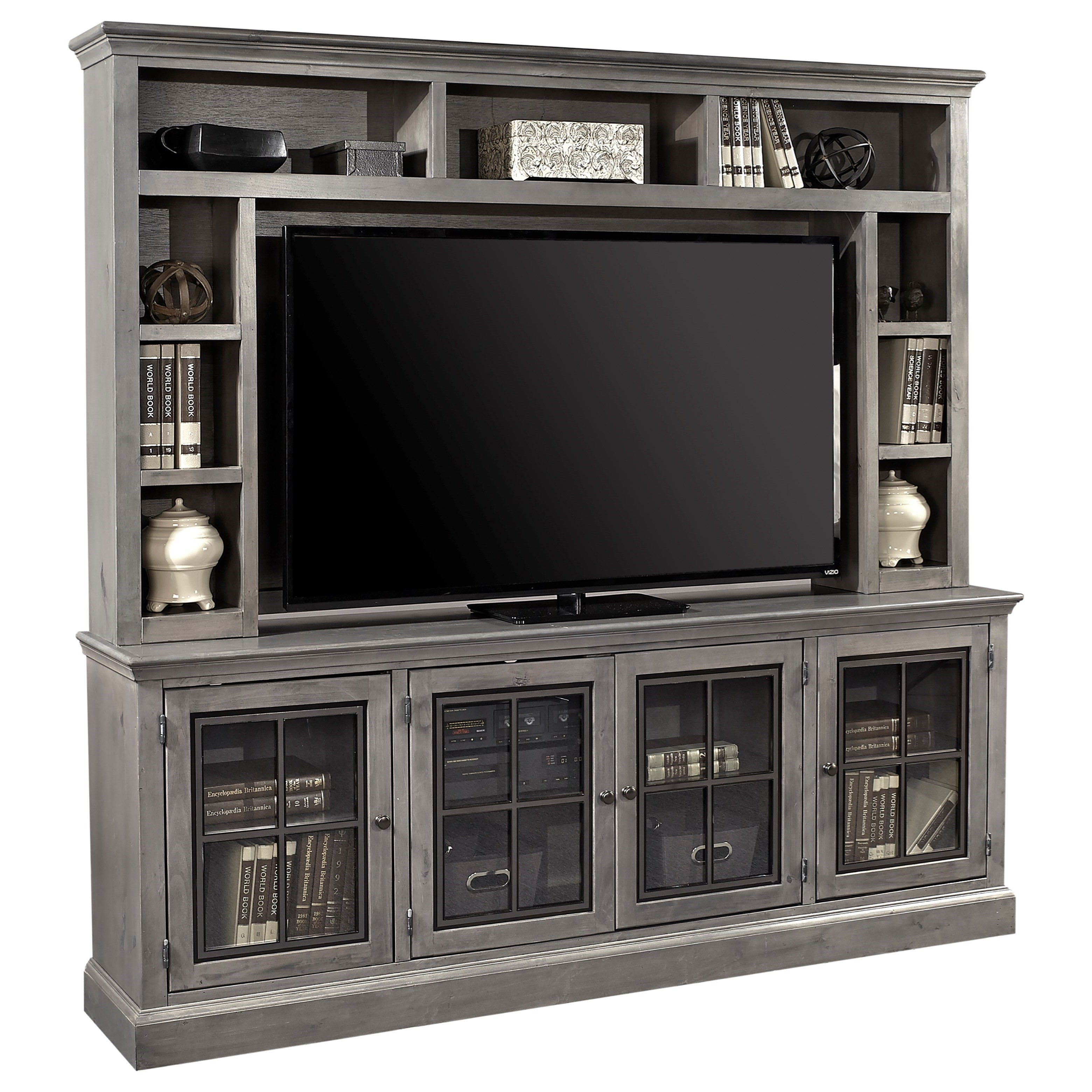 """Churchill 84"""" TV Console and Hutch by Aspenhome at Walker's Furniture"""