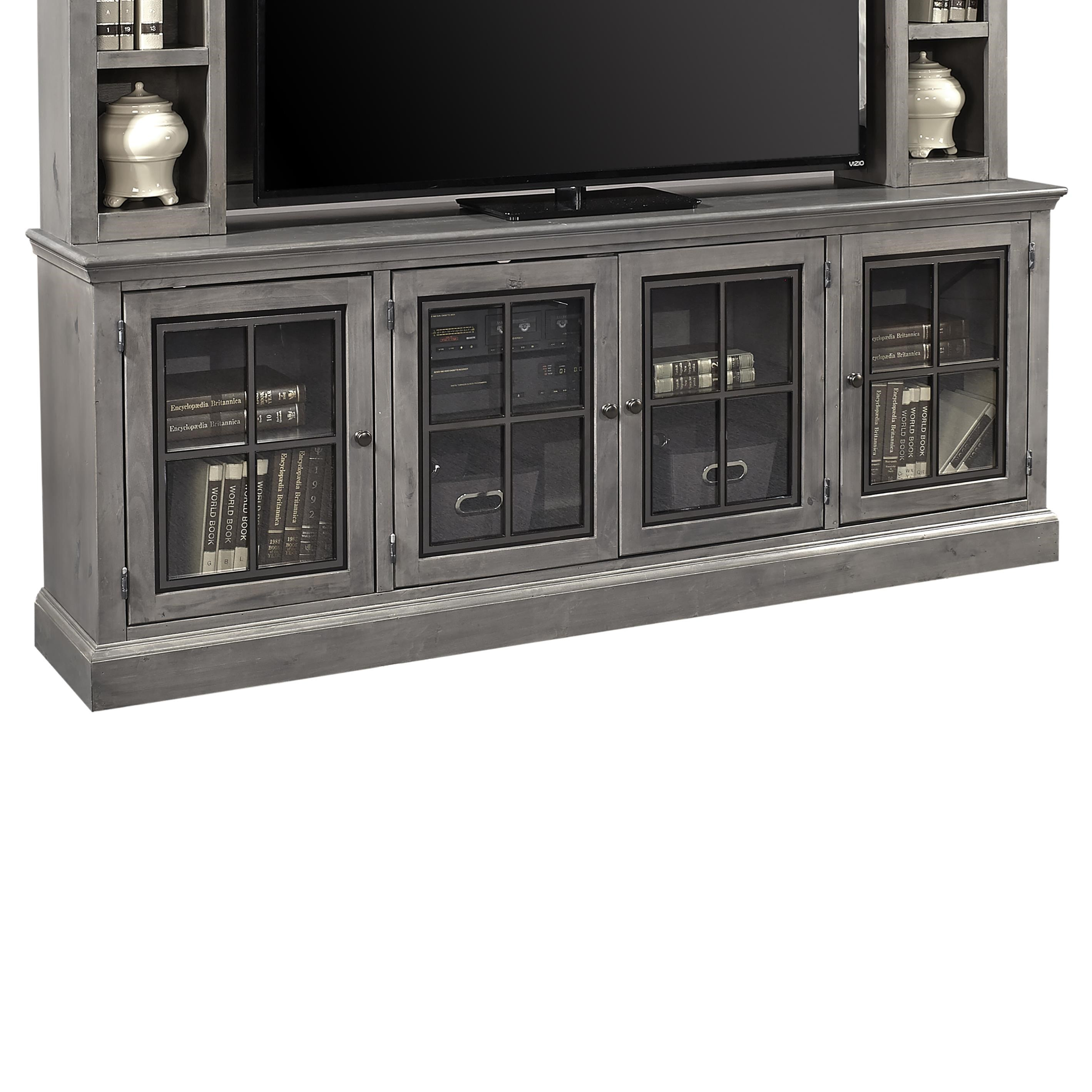 """Churchill 84"""" TV Console by Aspenhome at Walker's Furniture"""