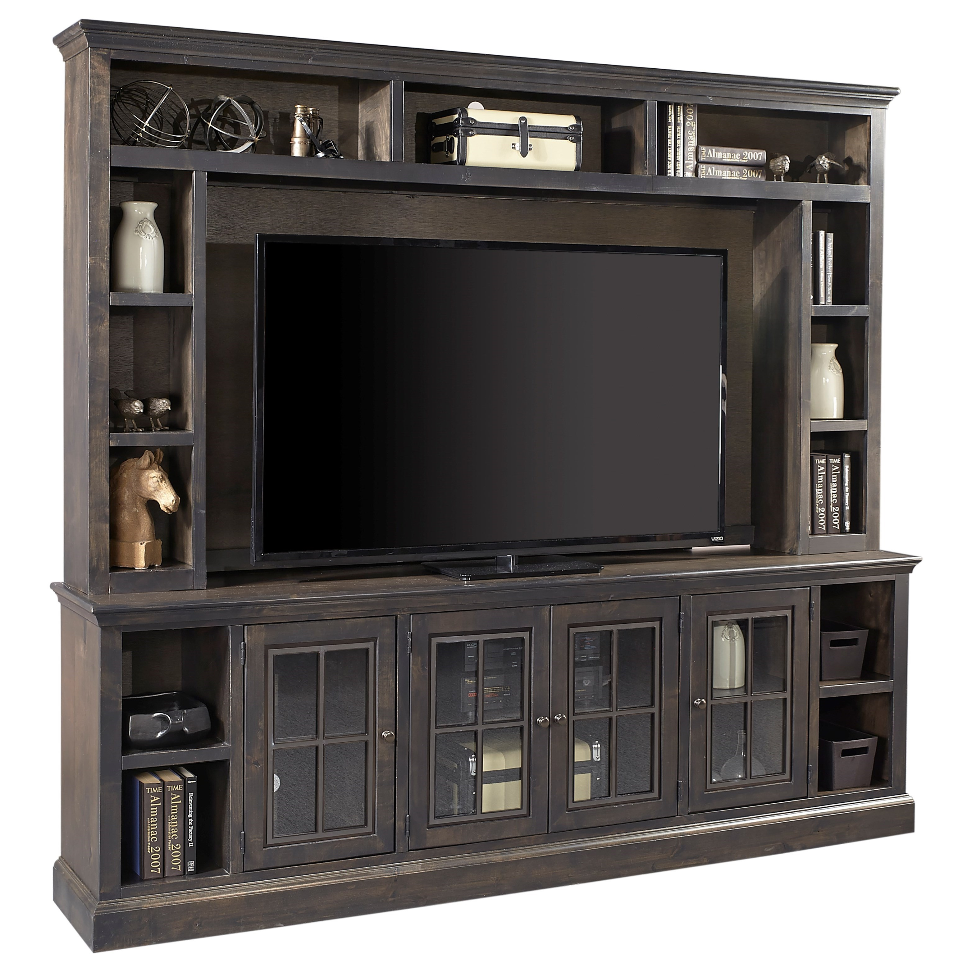 "Churchill 96"" TV Console and Hutch by Aspenhome at Walker's Furniture"
