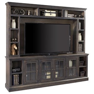 "96"" TV Console and Hutch with 4 Doors"
