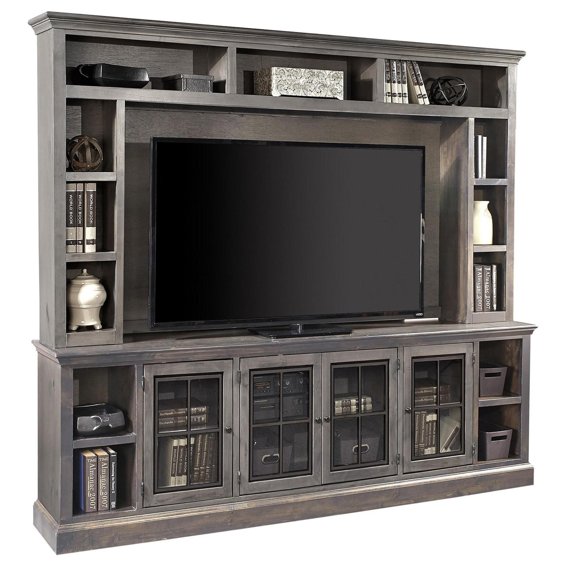 """Churchill 96"""" TV Console and Hutch by Aspenhome at Walker's Furniture"""