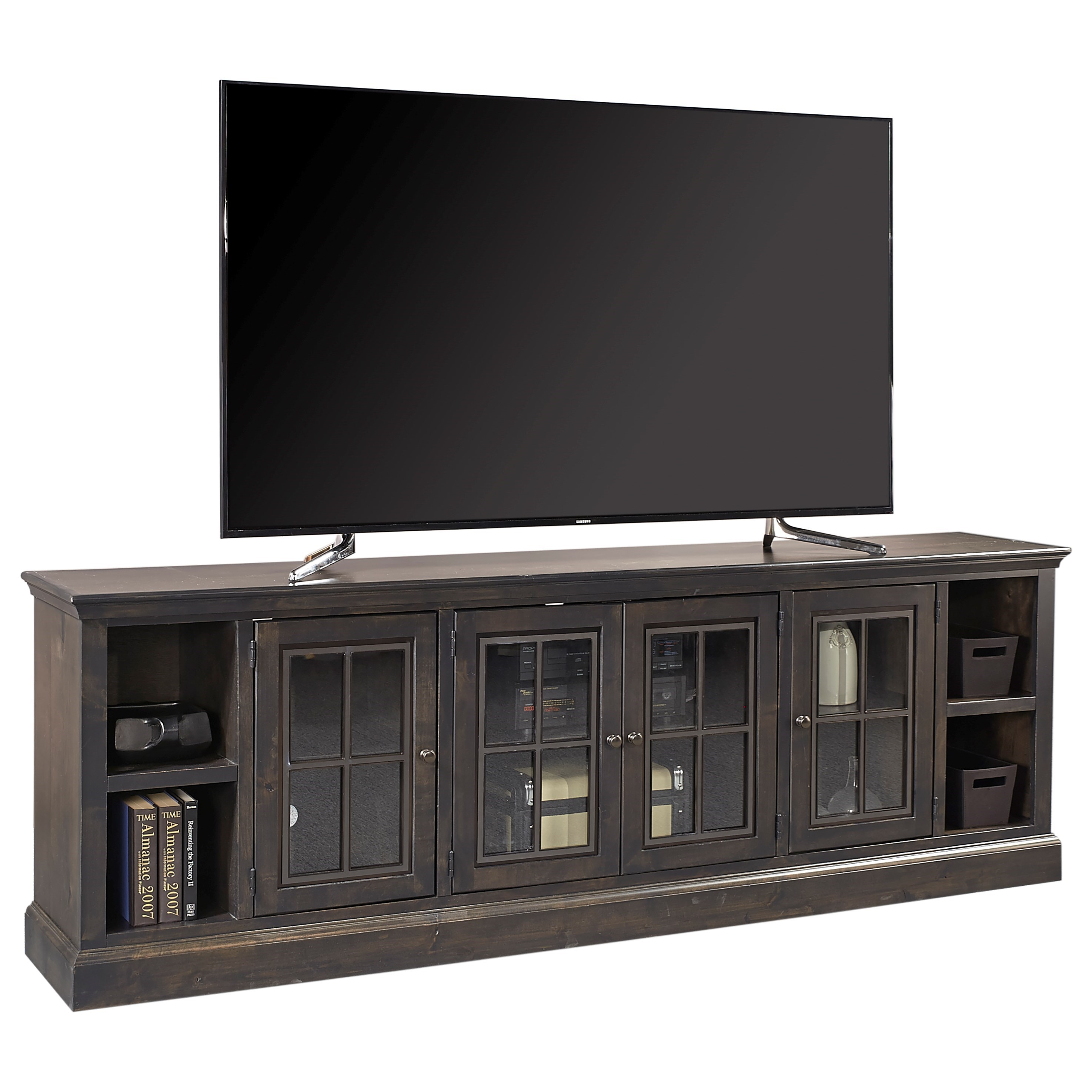 """Churchill 96"""" TV Console  by Aspenhome at Walker's Furniture"""