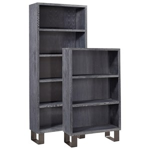 "Contmporary 39"" Tall Bookcase with Two Shelves"