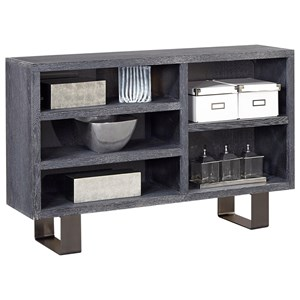 Contemporary Console Table with Five Storage Cubbies