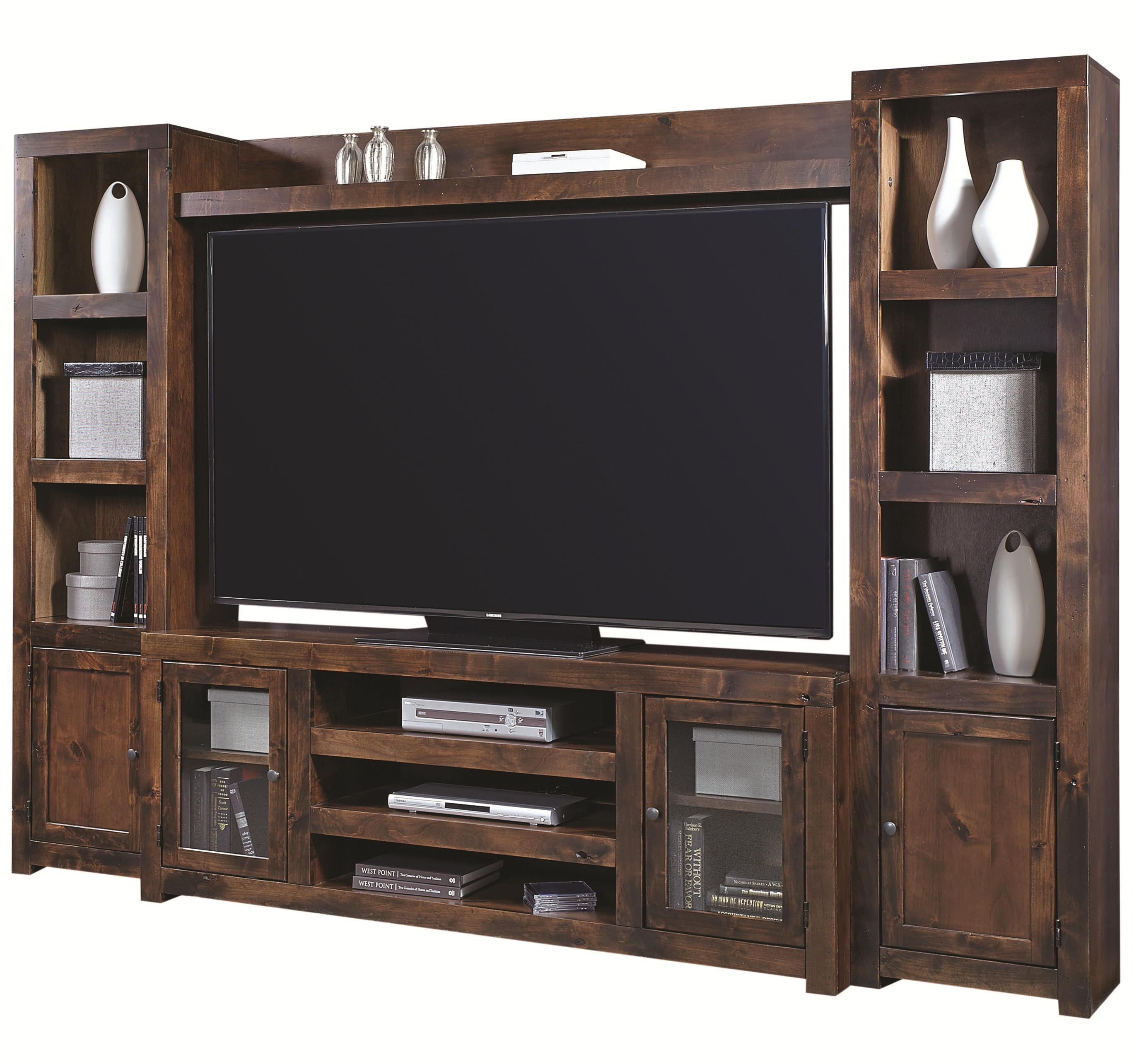 Contemporary Alder Entertainment Wall by Aspenhome at Walker's Furniture