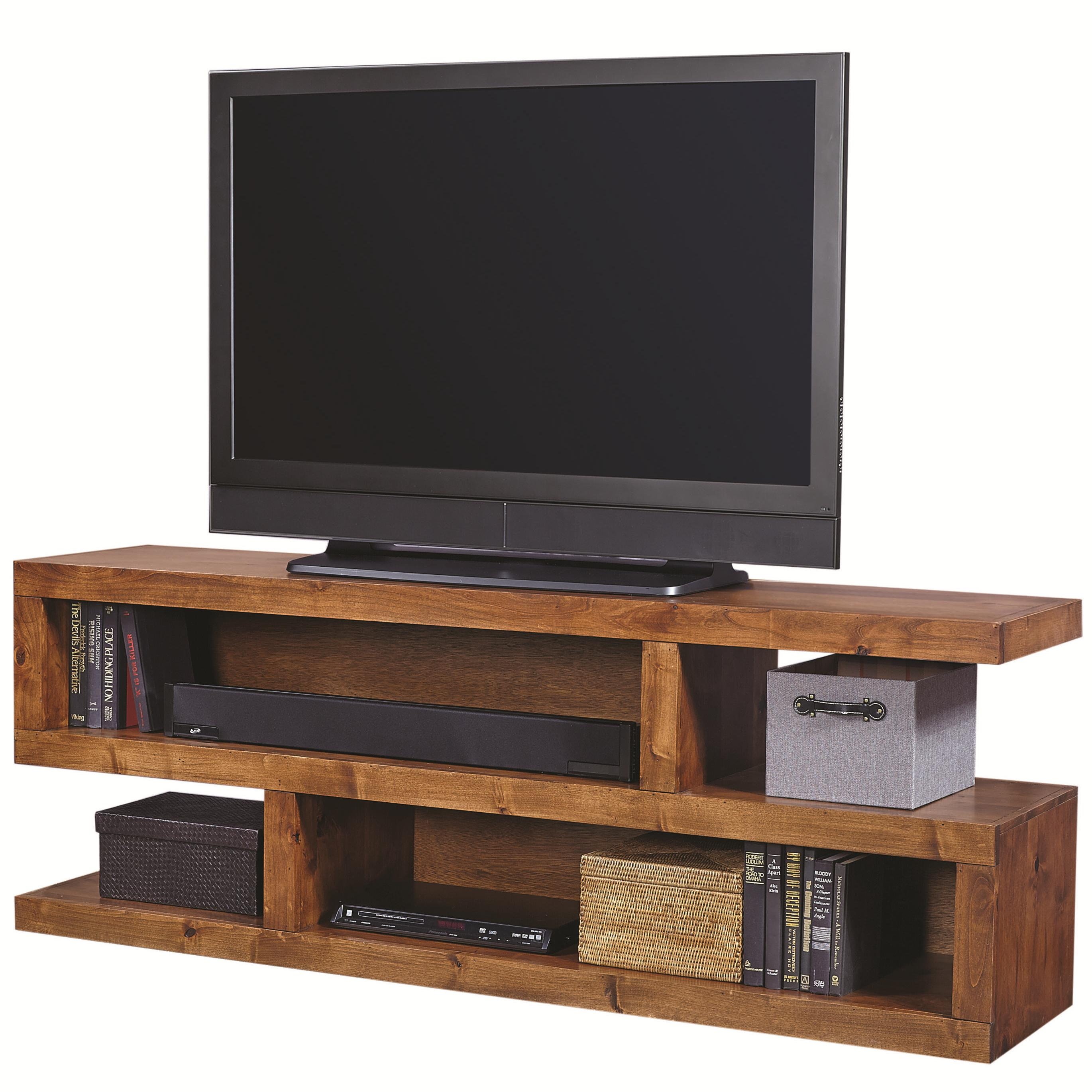 Contemporary Alder 74 Inch Open Console by Aspenhome at Mueller Furniture
