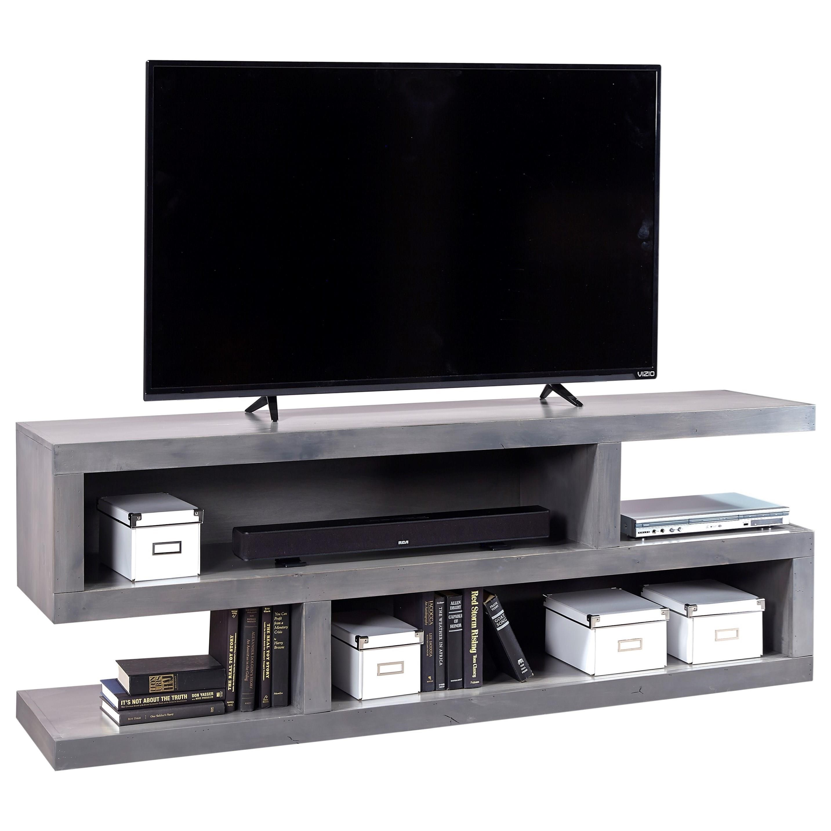 Contemporary Alder 74 Inch Open Console by Aspenhome at Story & Lee Furniture