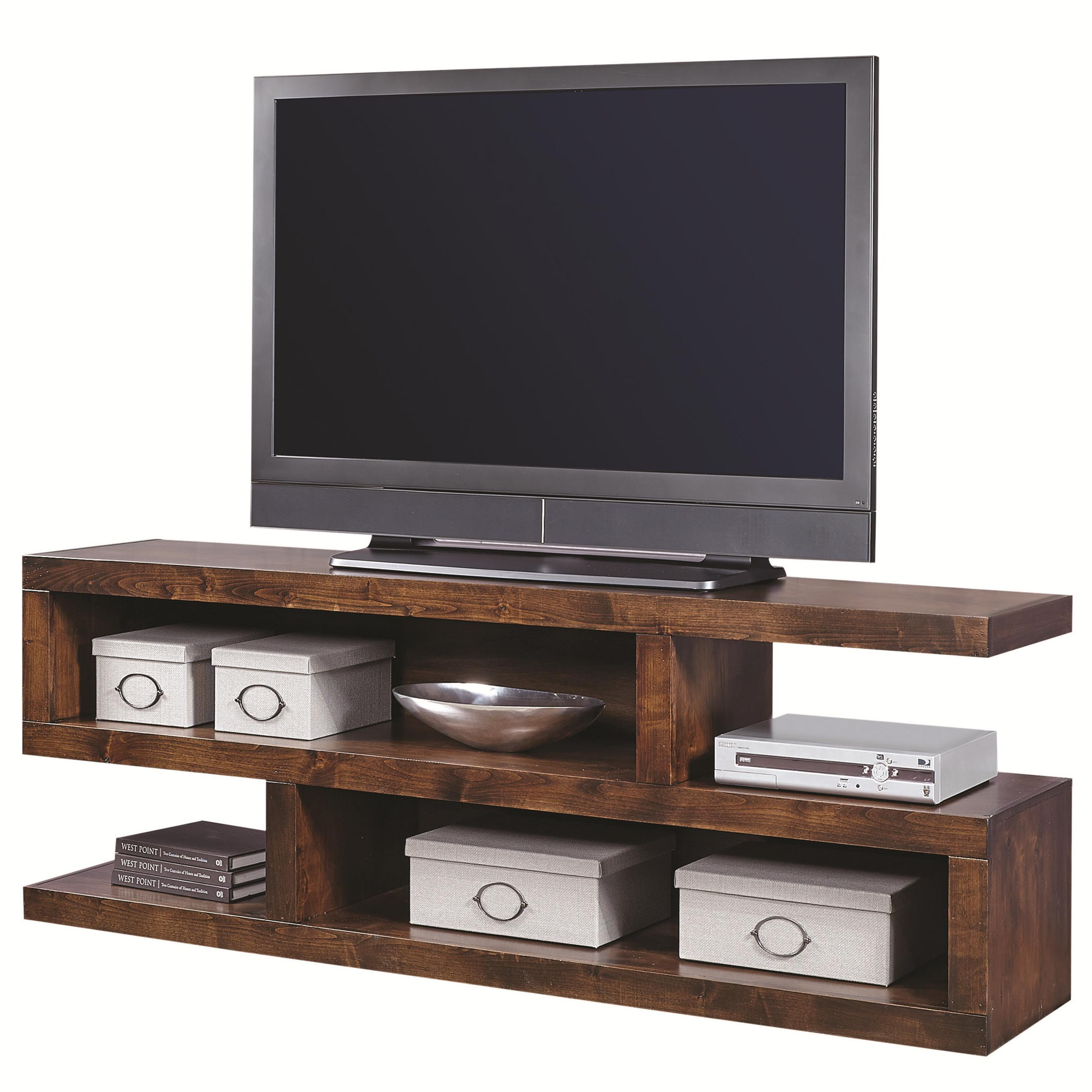 Contemporary Alder 74 Inch Open Console by Aspenhome at Rooms for Less
