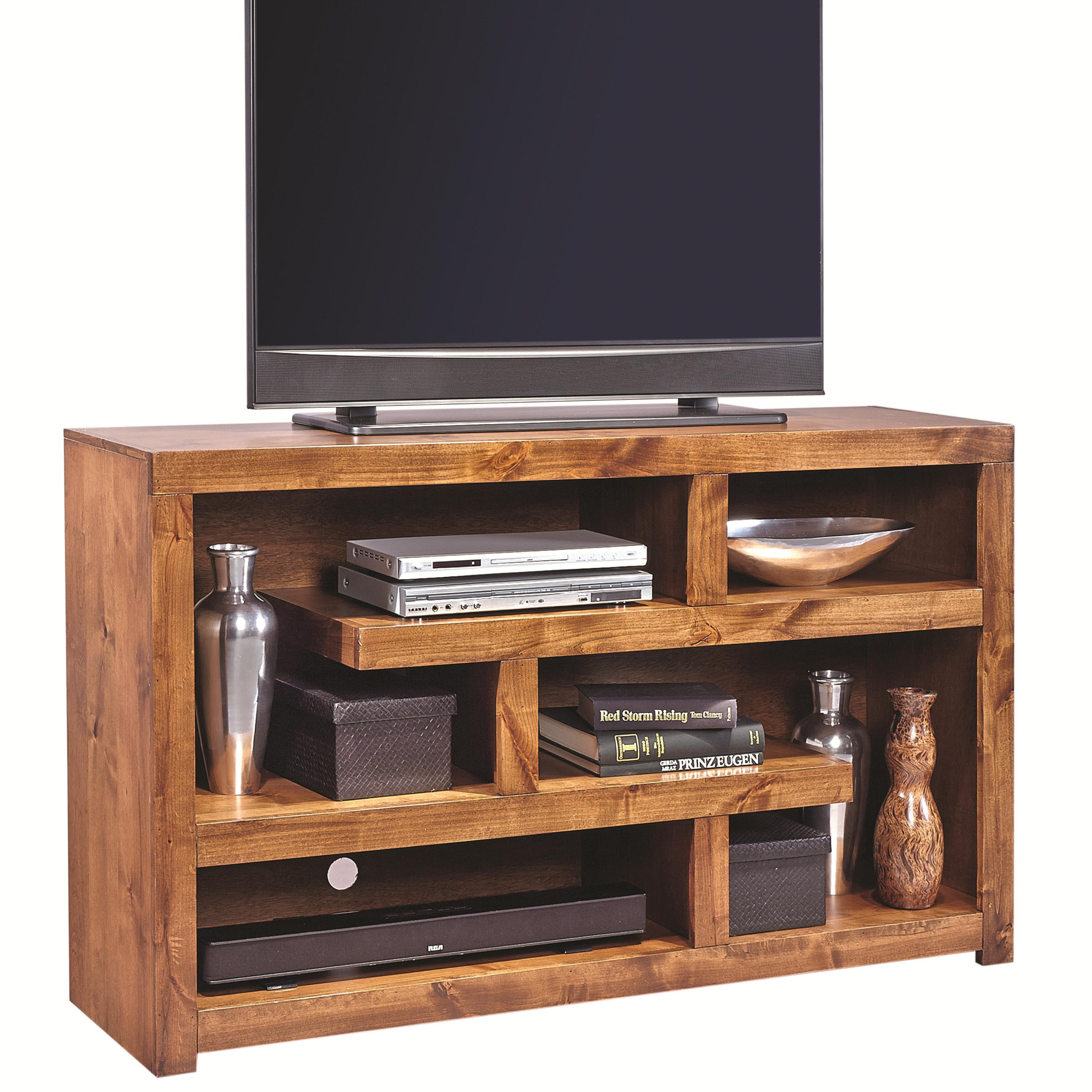 Contemporary Alder 60 Inch Open Console by Hills of Aspen at Ruby Gordon Home