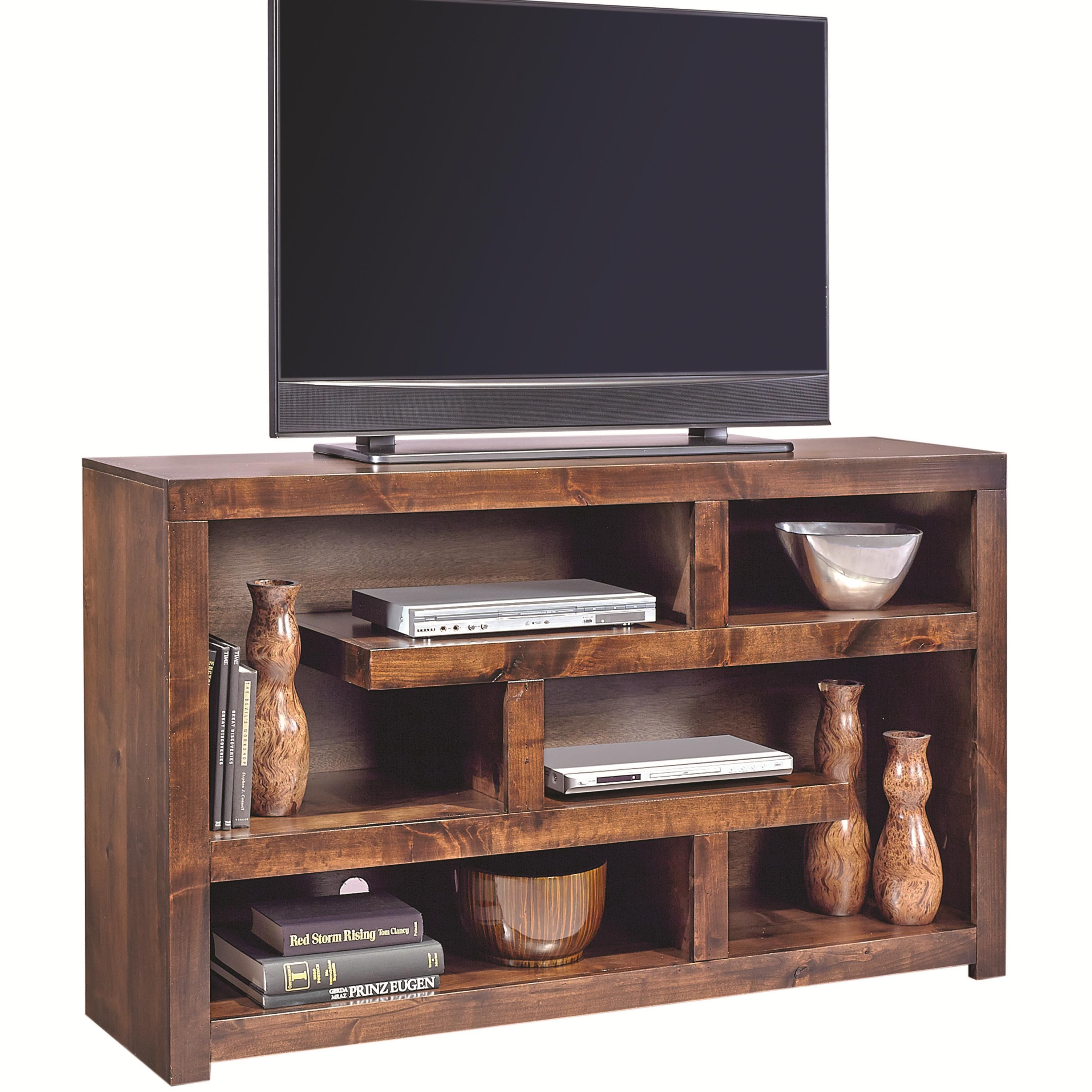Contemporary Alder 60 Inch Open Console by Aspenhome at Walker's Furniture