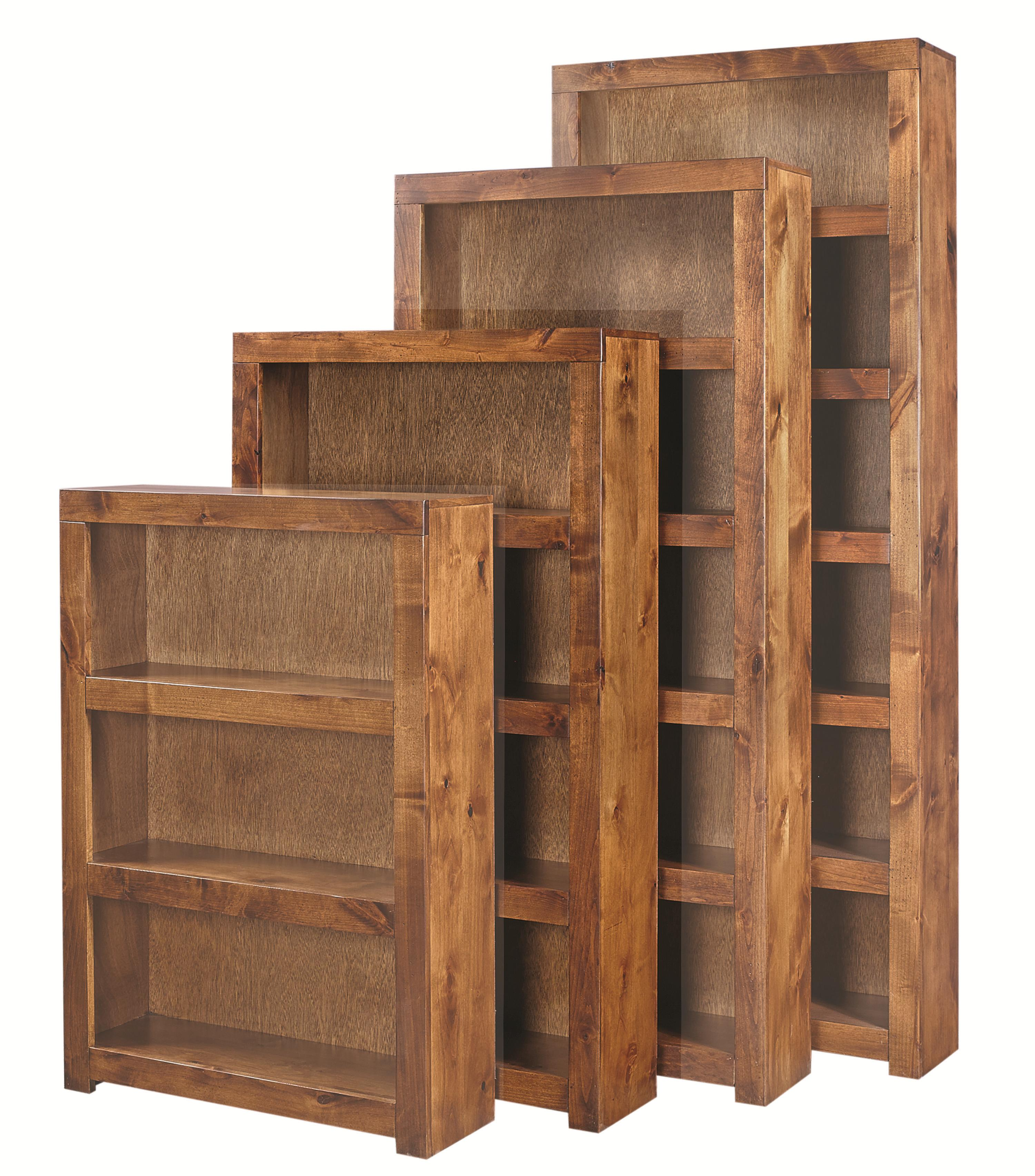 Contemporary Alder 60 Inch Bookcase by Aspenhome at Walker's Furniture