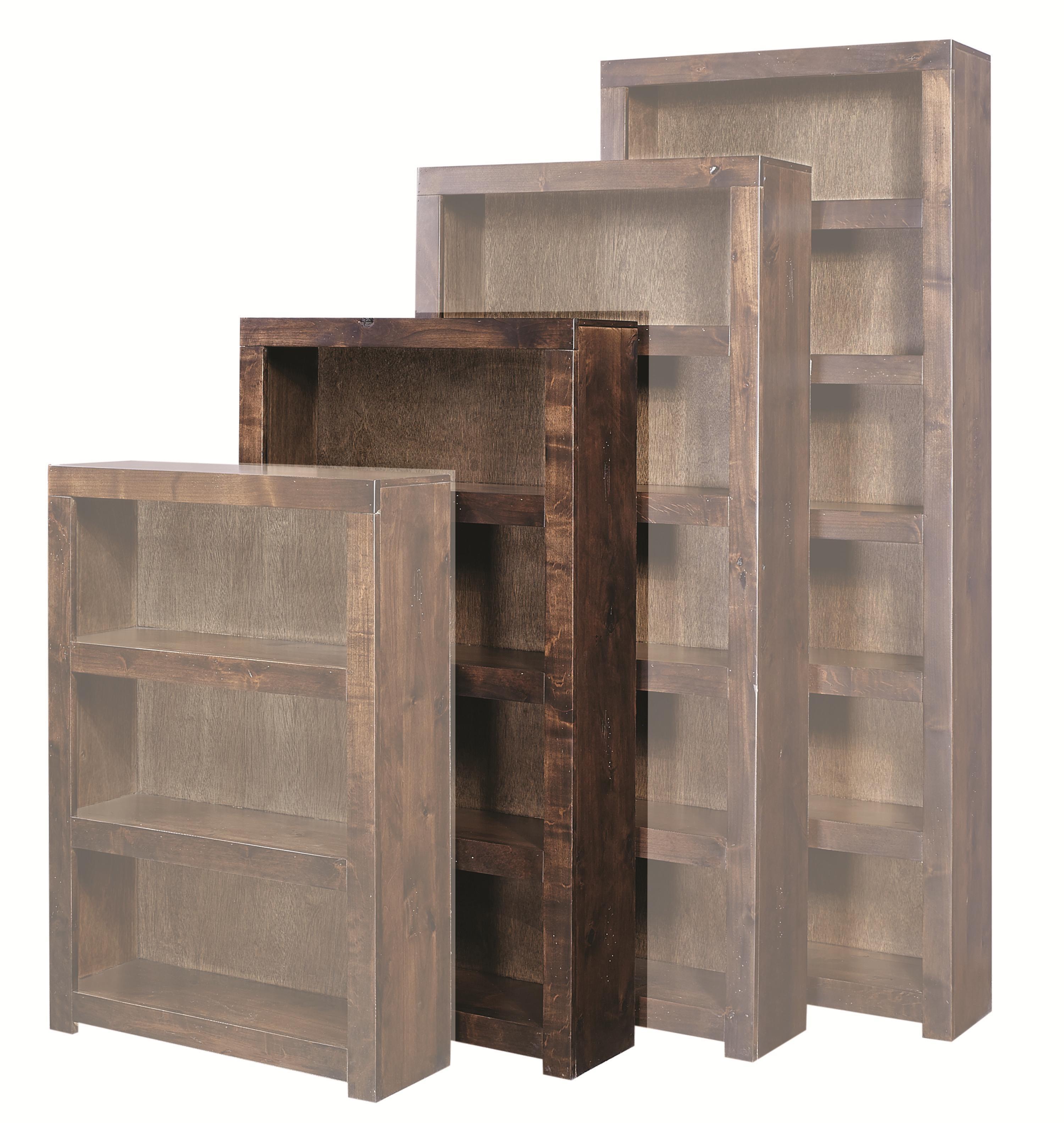 Contemporary Alder 60 Inch Bookcase by Aspenhome at Reid's Furniture