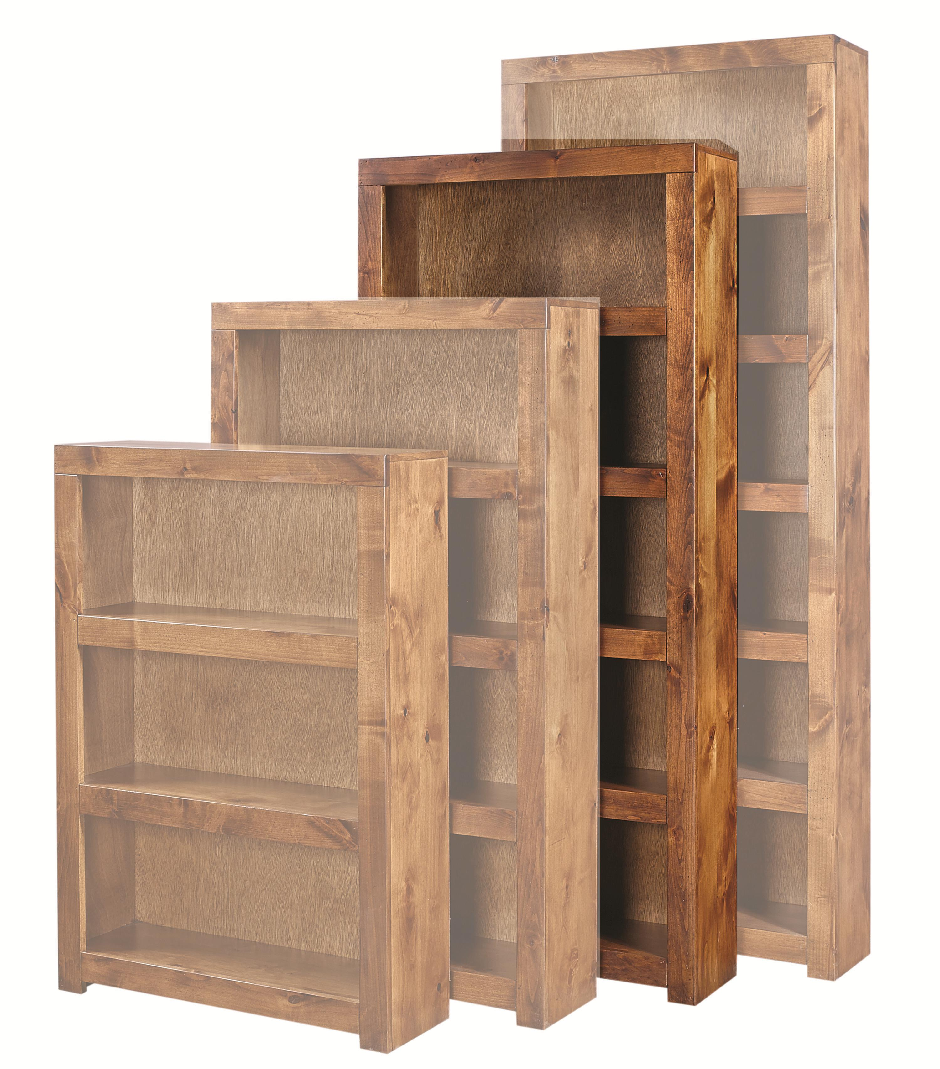 Contemporary Alder 72 Inch Bookcase by Aspenhome at Walker's Furniture