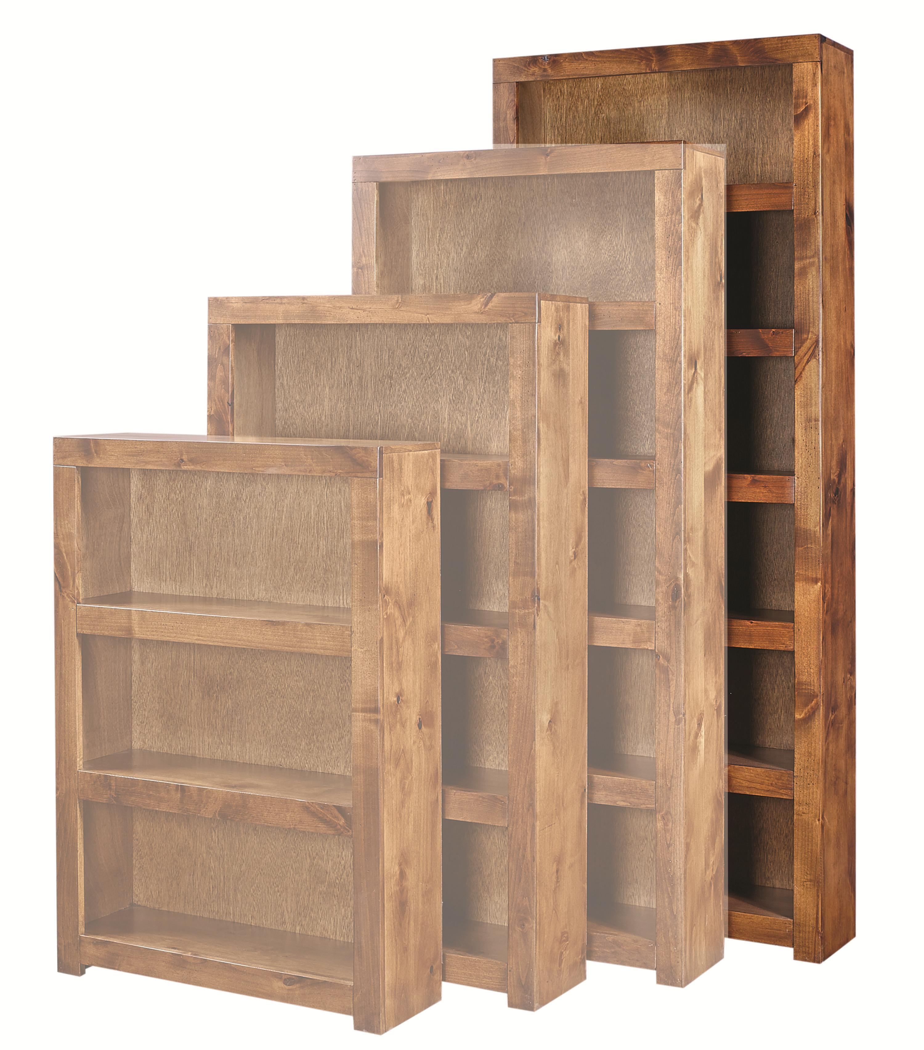 Contemporary Alder 84 Inch Bookcase by Aspenhome at Walker's Furniture