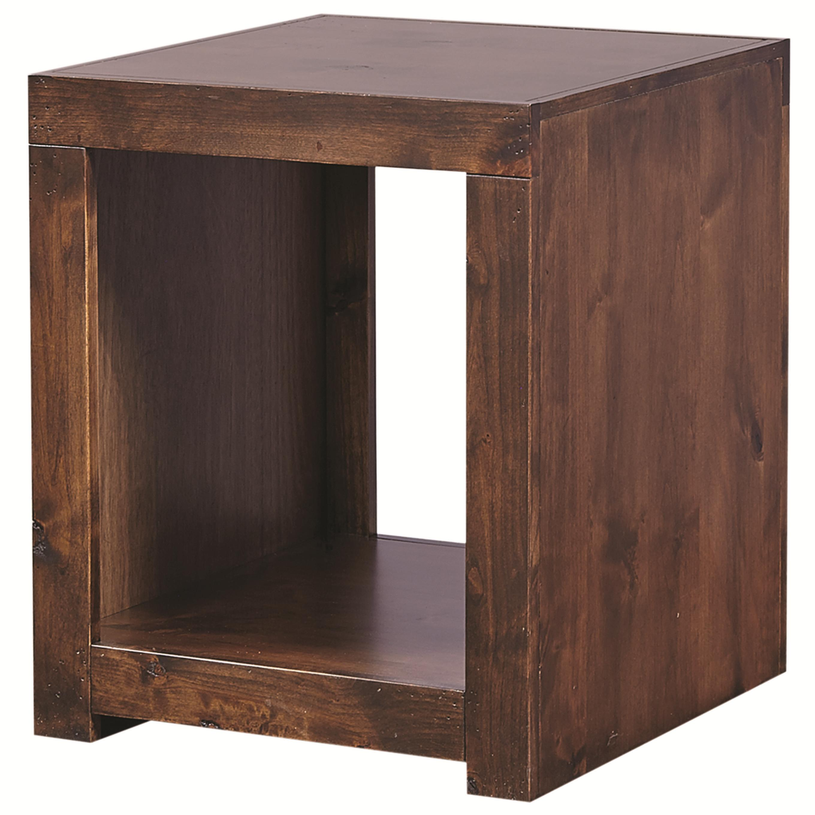 Contemporary Alder End Table by Aspenhome at Walker's Furniture