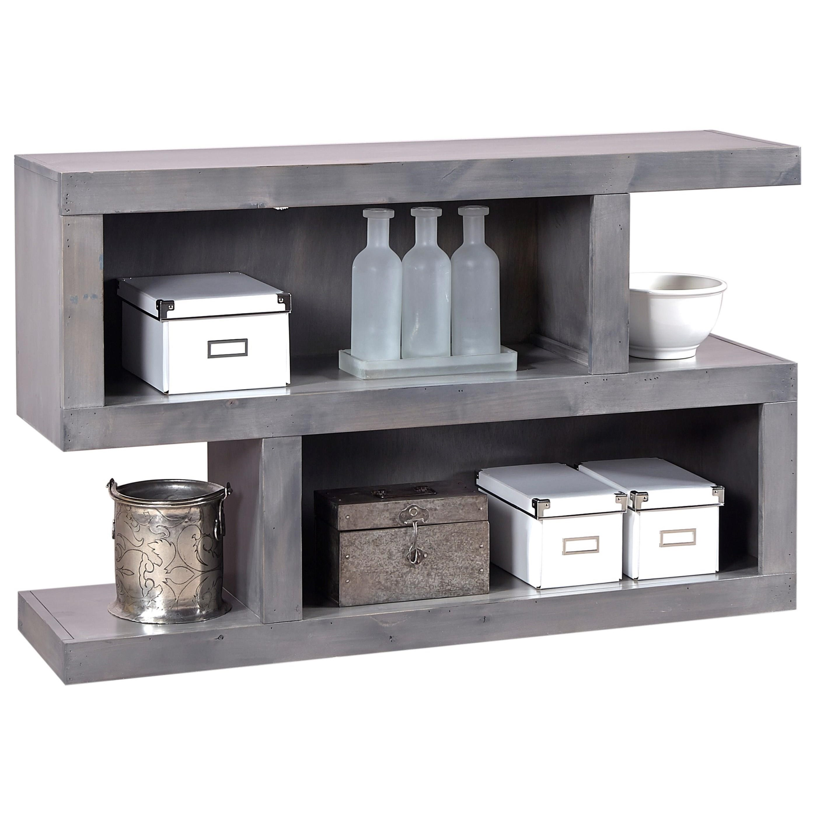 Contemporary Alder Console Table by Aspenhome at Walker's Furniture