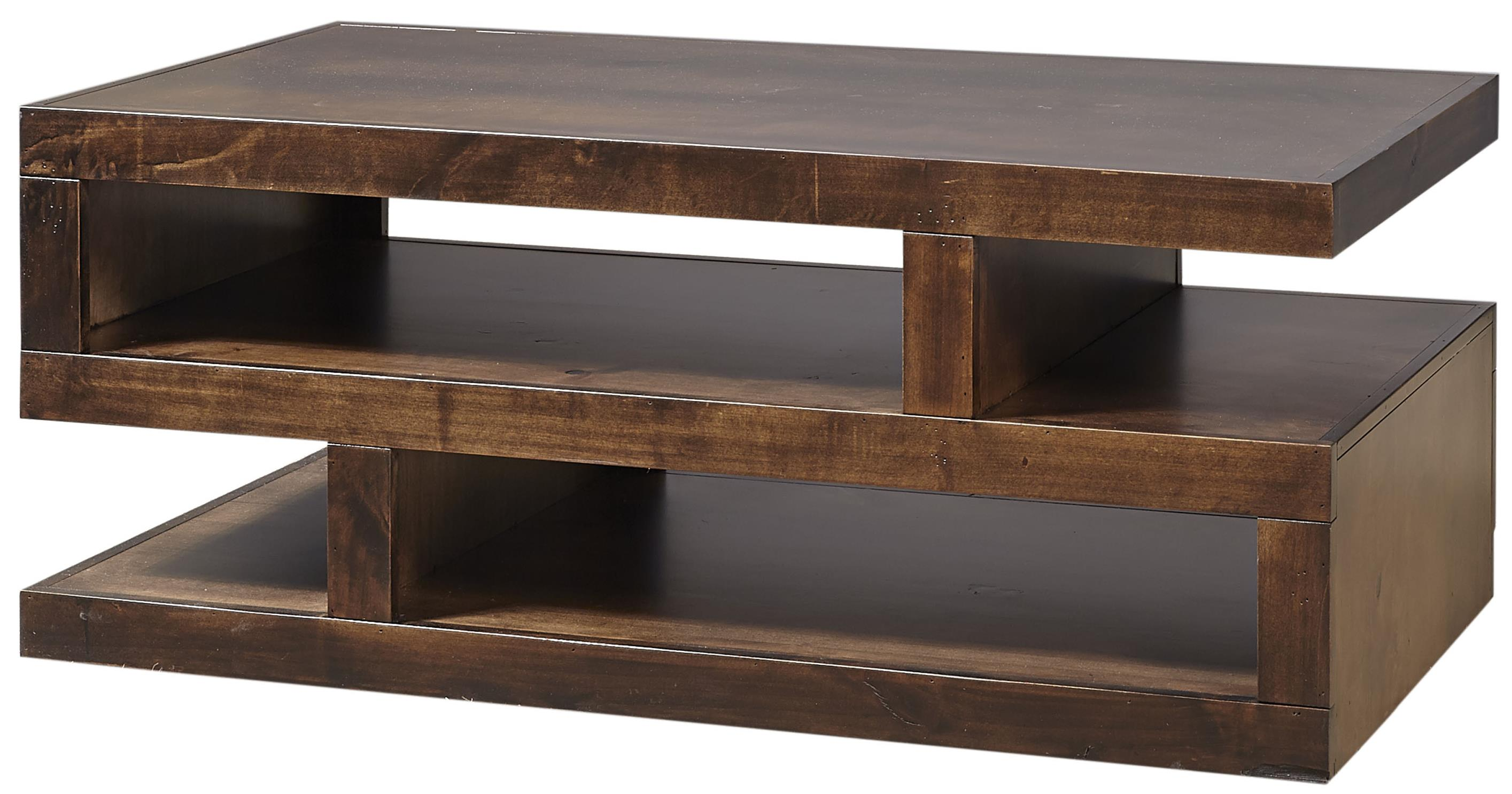 Contemporary Alder S Cocktail Table  by Aspenhome at Walker's Furniture