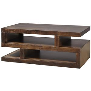 Contemporary Cocktail Table with Storage