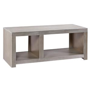 Cocktail Table with 2 Open Compartments