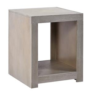 End Table with Open Compartment