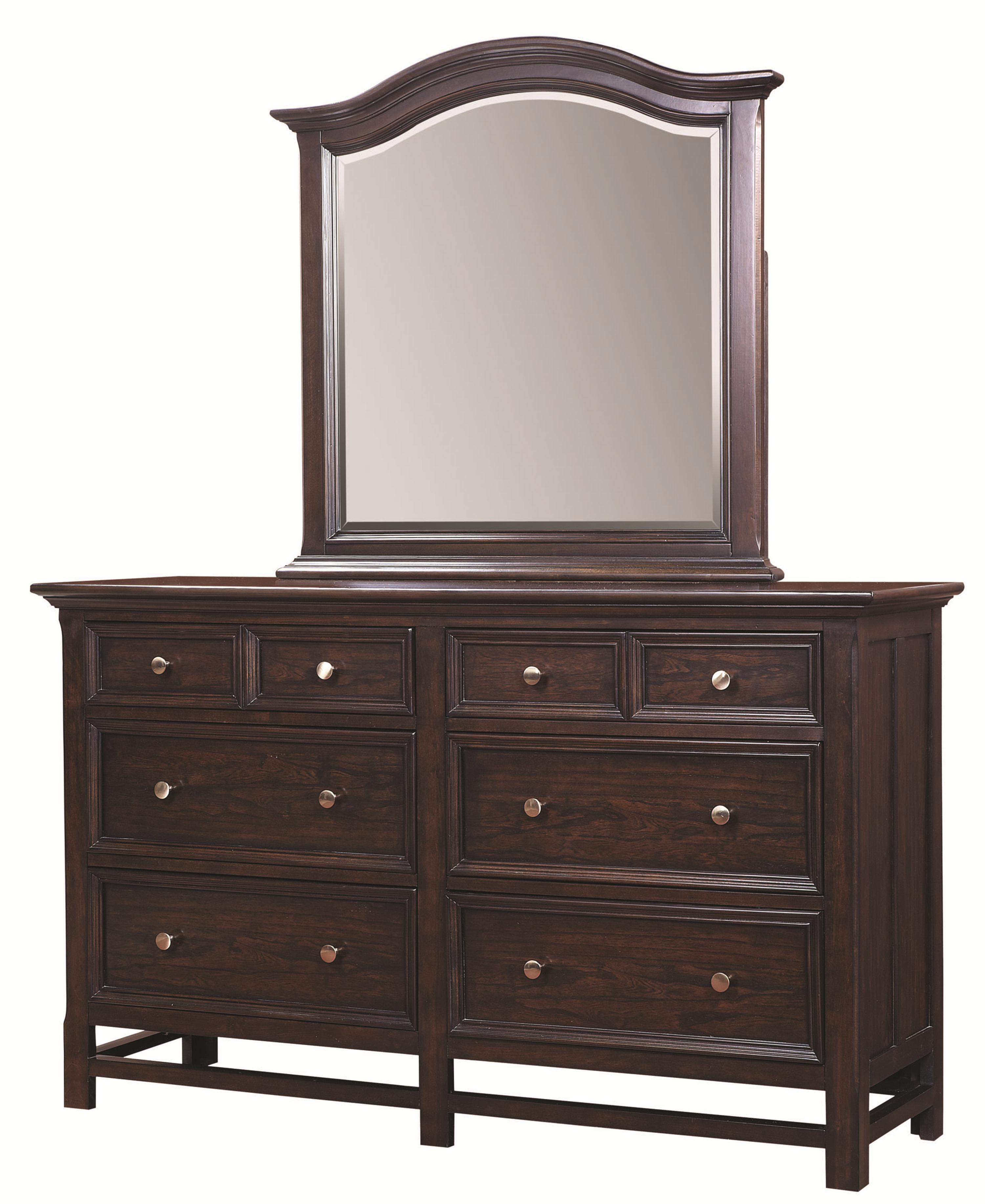 Copper Hill Dresser and Arched Mirror by Aspenhome at Stoney Creek Furniture