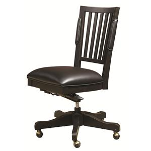 Office Chair with Leather Seat and Five-Star Base