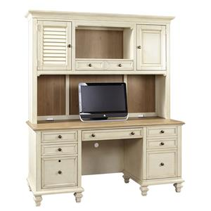 Crendenza with Printer Pullout and Hutch
