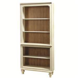 Open Bookcase with 3 Adjustable Shelves and 1 Stationary