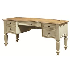 Curved-Top Half Pedestal Desk