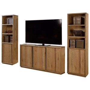 Entertainment Wall with Five Doors