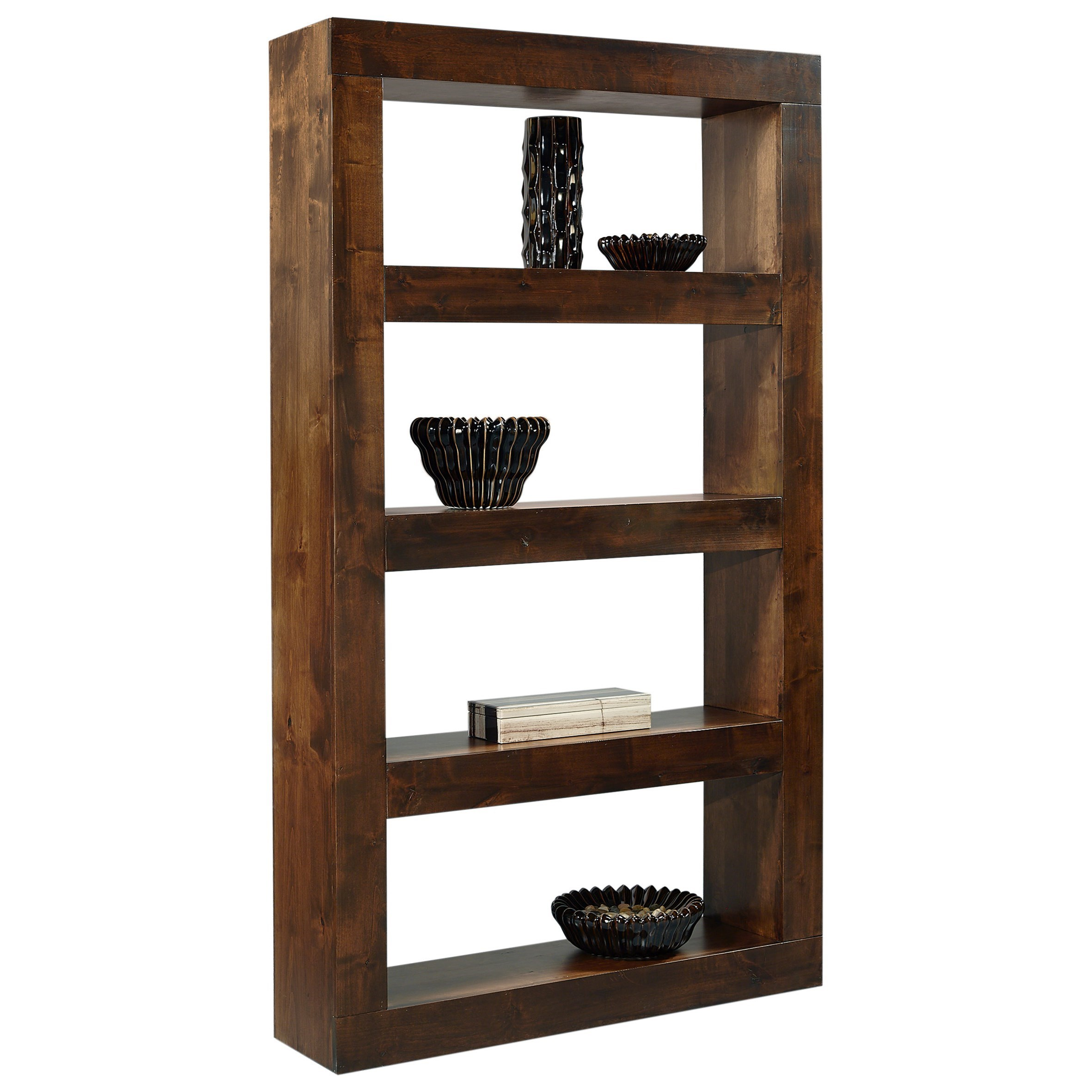 Nova Alder Open Display Case by Aspenhome at Stoney Creek Furniture