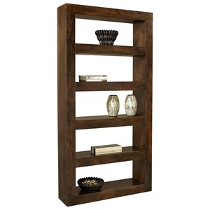 "Transitional 94"" Open Display Case with 5 Shelves"