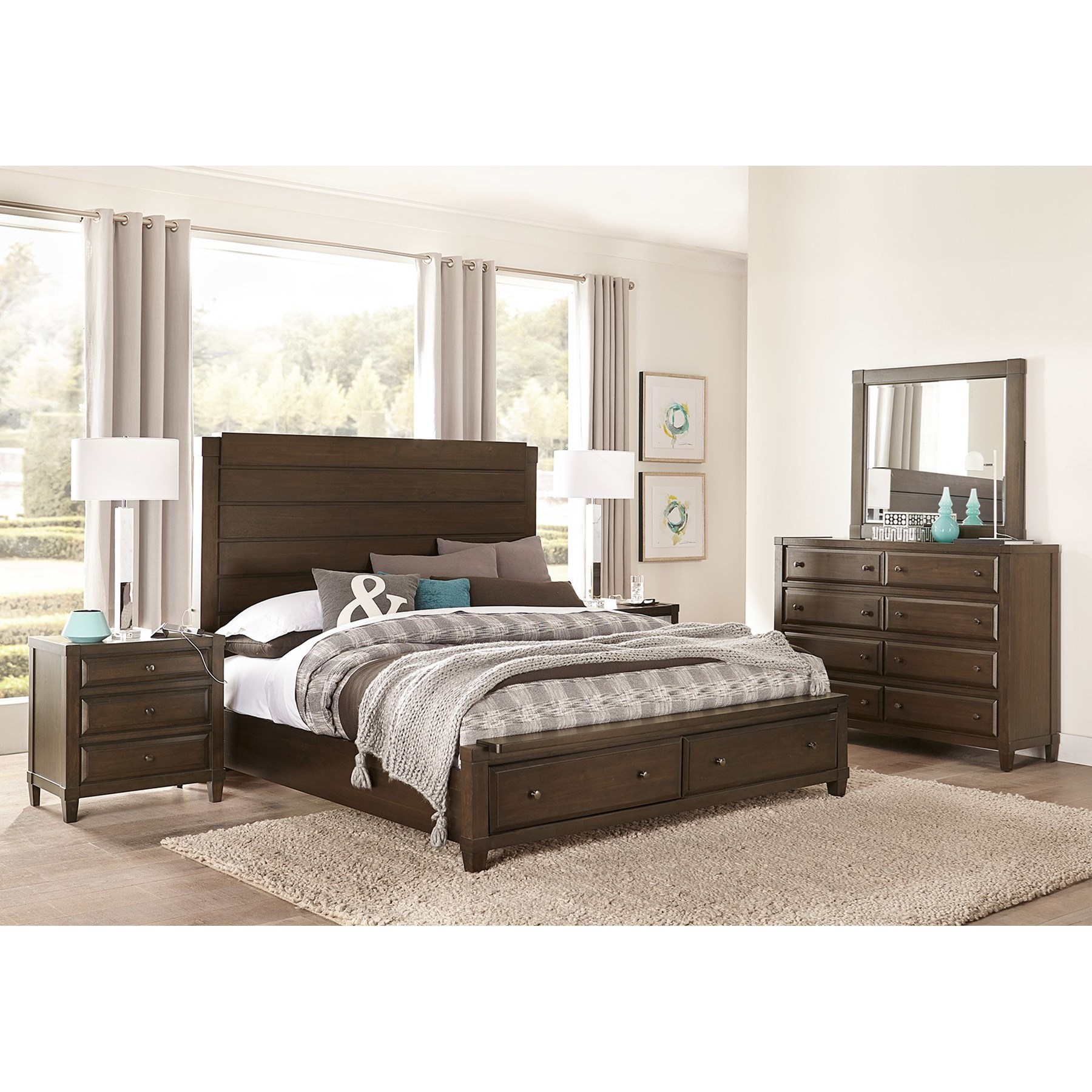 Easton Cal King Bedroom Group by Aspenhome at Dunk & Bright Furniture