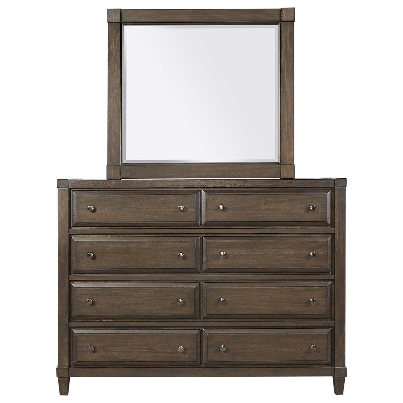 Easton Chesser and Mirror Combination by Aspenhome at Stoney Creek Furniture