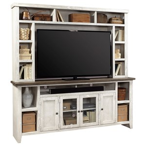 "84"" Console and Hutch with Soundbar Compartment"