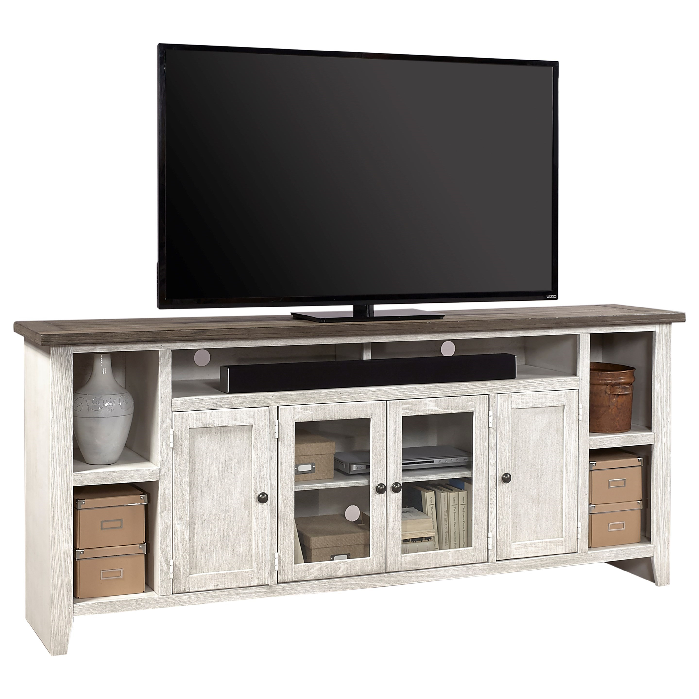 "Eastport 84"" Console by Aspenhome at Walker's Furniture"