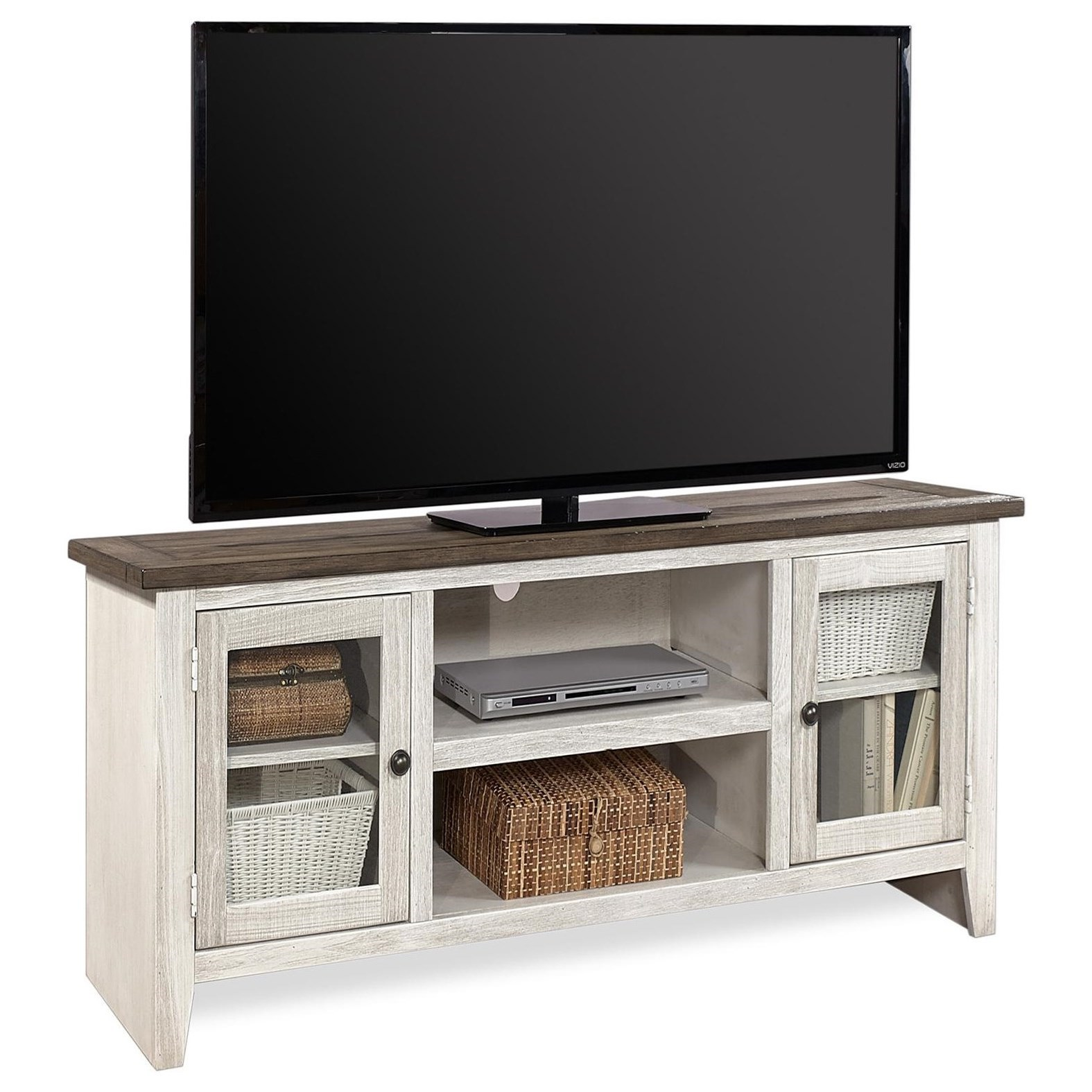 """Eastport 58"""" Console by Aspenhome at Walker's Furniture"""