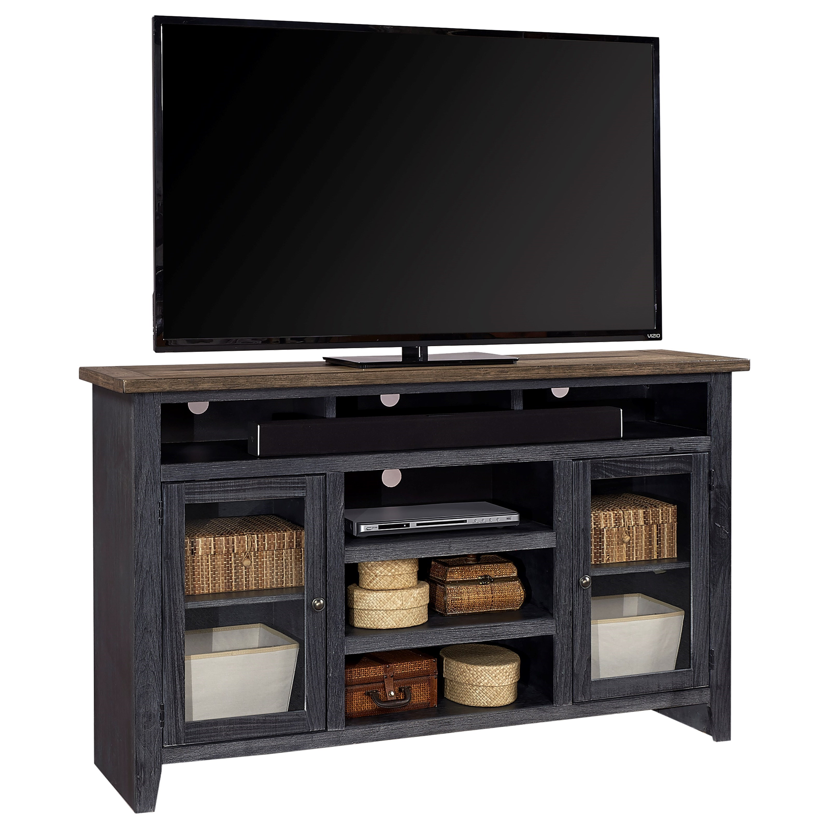 """Eastport 65"""" Highboy Console by Aspenhome at Walker's Furniture"""