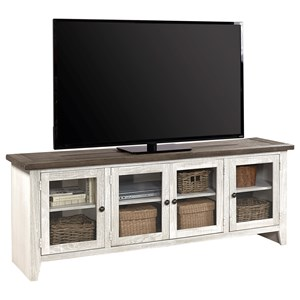 "74"" Console with 6 Shelves"