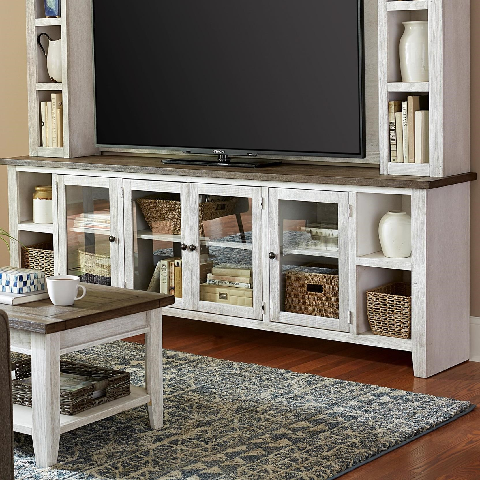 """Eastport 97"""" Console by Aspenhome at Walker's Furniture"""