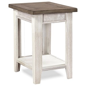 Chairside Table with Two-Tone Finish