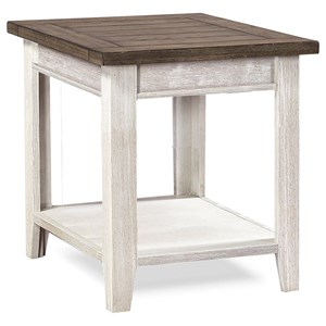 End Table with Two-Tone Finish