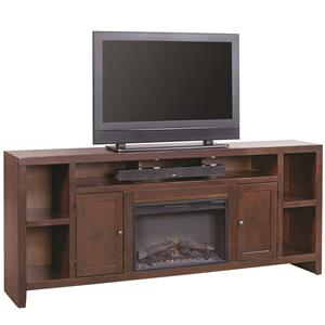 """84"""" Fireplace Console with 2 Doors"""