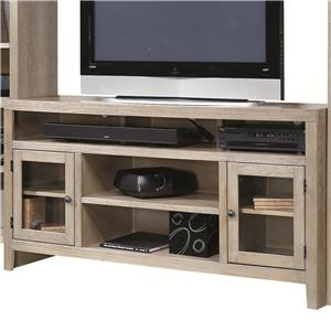 Entertainment Console with 2 Glass Doors