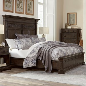 Traditional King Size Estate Panel Bed