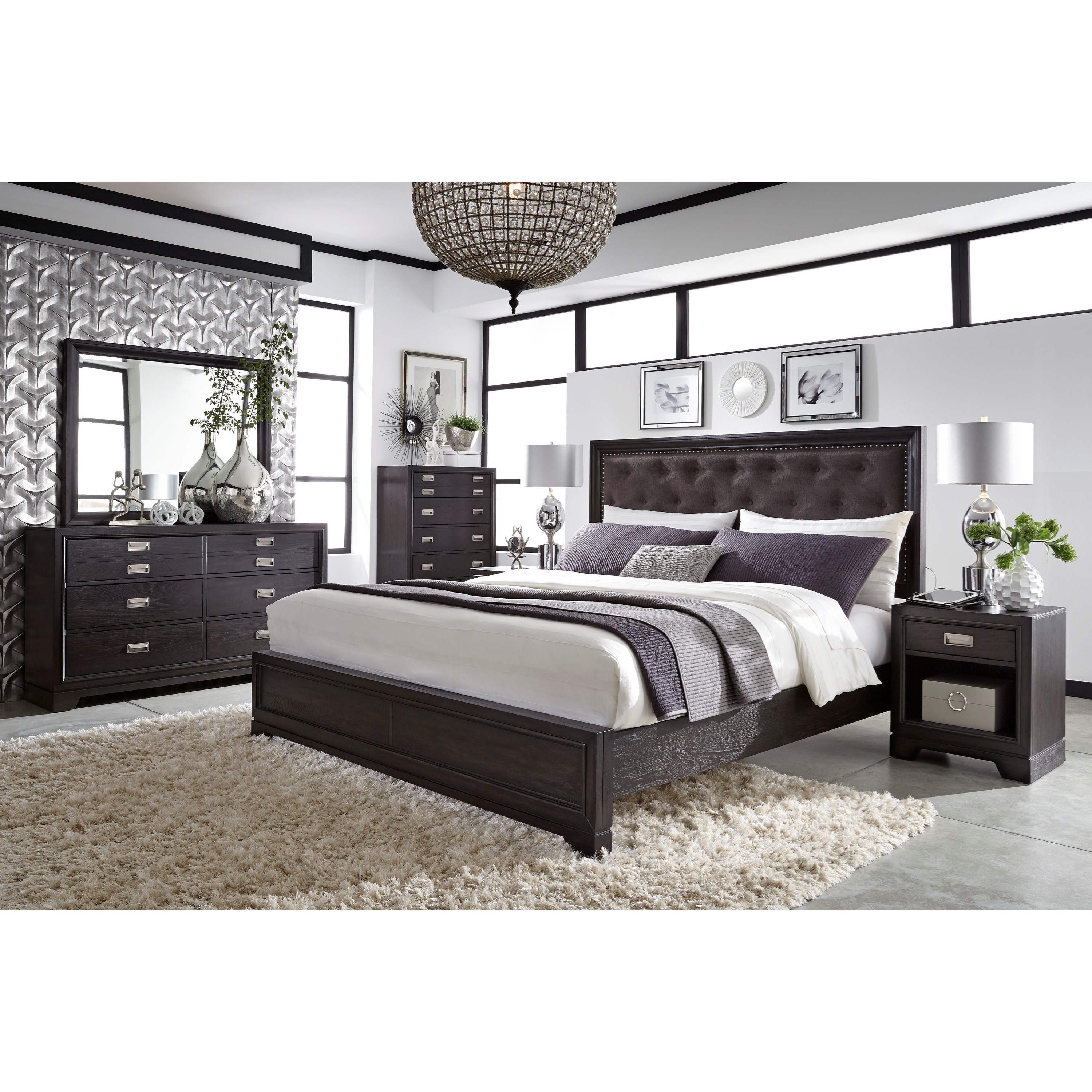 Front Street California King Upholstered Bed by Aspenhome at Bullard Furniture