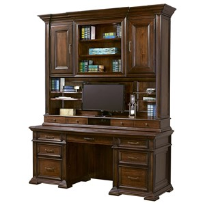 Credenza with Hutch and USB Ports